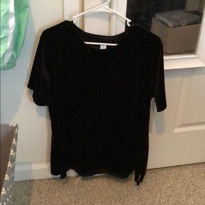 Black crushed velvet top!